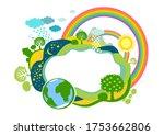 summer or spring  ecology... | Shutterstock . vector #1753662806
