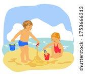 Children  A Boy And A Girl Pla...
