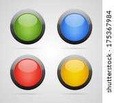 set of clean blank color circle ... | Shutterstock . vector #175367984