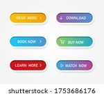 set of vector modern material... | Shutterstock .eps vector #1753686176