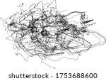lines vector  chaotic black...   Shutterstock .eps vector #1753688600