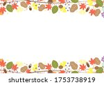 autumn glitter fallen leaves...   Shutterstock .eps vector #1753738919
