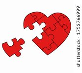 Puzzled Heart With One Missed...