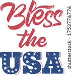 bless the usa quote. american... | Shutterstock .eps vector #1753776776