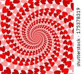 design red striped heart helix... | Shutterstock .eps vector #175378319