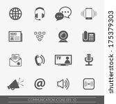 communication icons  vector. | Shutterstock .eps vector #175379303