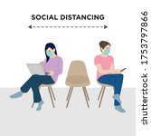 social distancing to avoid...   Shutterstock .eps vector #1753797866