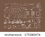 hipster style  elements and... | Shutterstock .eps vector #175380476