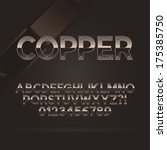 copper font and numbers  eps 10 ... | Shutterstock .eps vector #175385750