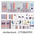 office creative workspace...   Shutterstock .eps vector #1753862993
