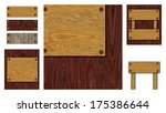 wooden backgrounds collection | Shutterstock . vector #175386644