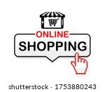 online shopping icon.... | Shutterstock .eps vector #1753880243
