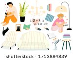 home interior furniture and... | Shutterstock .eps vector #1753884839