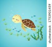 vector illustration of a cute... | Shutterstock .eps vector #1753901459