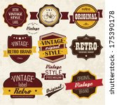 collection of vintage retro... | Shutterstock .eps vector #175390178