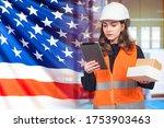 Girl Works In Usa. Customs....