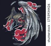 crow on a dark background | Shutterstock . vector #1753934426
