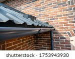 Gutter System For A Metal Roof. ...