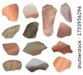 set of colorful stones isolated ... | Shutterstock . vector #1753956296