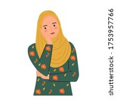 annoyed  bored young woman ...   Shutterstock .eps vector #1753957766