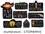 humoristic food hand drawn... | Shutterstock .eps vector #1753984943