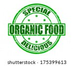 stamp with text organic food... | Shutterstock .eps vector #175399613