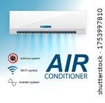 split system air conditioner...   Shutterstock .eps vector #1753997810