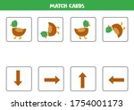 match cards of orientations.... | Shutterstock .eps vector #1754001173