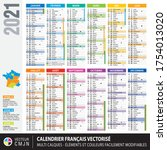 French Calendar 2021 With...