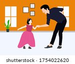 world father day world daughter ... | Shutterstock .eps vector #1754022620