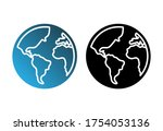 globe with different continents ...   Shutterstock .eps vector #1754053136