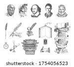 literature hand drawn vector...   Shutterstock .eps vector #1754056523