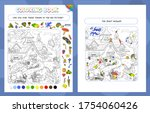 coloring book game for kids and ... | Shutterstock .eps vector #1754060426