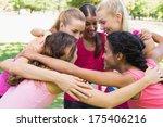 happy female participants of... | Shutterstock . vector #175406216