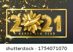 2021 happy new year vector... | Shutterstock .eps vector #1754071070