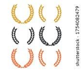 round laurel and oak heraldry... | Shutterstock .eps vector #1754082479