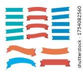 flat vector ribbons banners... | Shutterstock .eps vector #1754082560