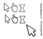 pixel cursors icons. mouse...   Shutterstock .eps vector #1754082569