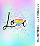 lgbt poster design. gay pride.... | Shutterstock .eps vector #1754083106