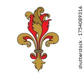 detail for a coat of arms crest ... | Shutterstock .eps vector #1754089316