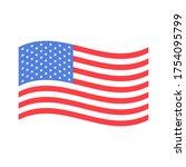 american flag wave vector... | Shutterstock .eps vector #1754095799