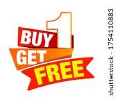 buy one get one free talker....   Shutterstock .eps vector #1754110883