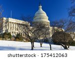 Stock photo capitol building in a snowy winter day washington dc usa 175412063