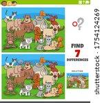 cartoon illustration of finding ...   Shutterstock .eps vector #1754124269