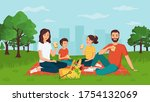 oncept of young happy family... | Shutterstock .eps vector #1754132069