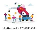 petrol economy  car refueling... | Shutterstock .eps vector #1754133533