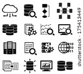 big data and technology icon set | Shutterstock .eps vector #175413449