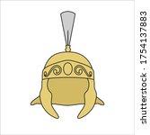 detail helmet for a coat of... | Shutterstock .eps vector #1754137883