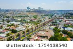 Aerial View Of The Aqueduct Of...