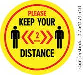 keep the distance sign  vector...   Shutterstock .eps vector #1754171510
